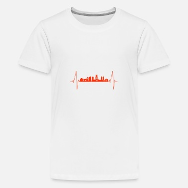 German Mining Museum Bochum heartbeat - Teenage Premium T-Shirt
