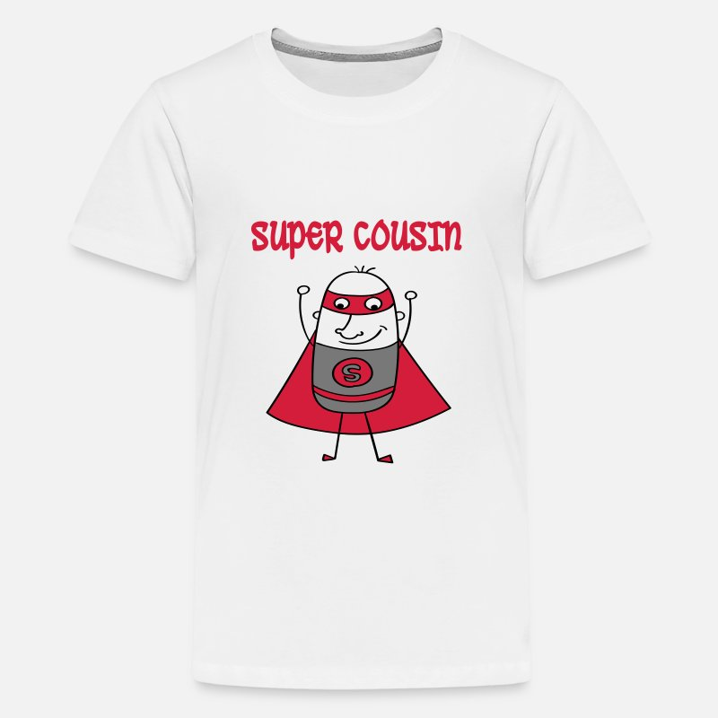 Big T-shirts - Super cousin - T-shirt premium Ado blanc