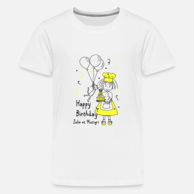 Happy Birthday Julie og Mistigri Happy Birthday - Premium T-shirt teenager