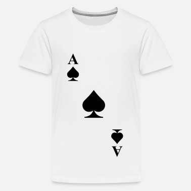 Carta As de pica - Camiseta premium adolescente