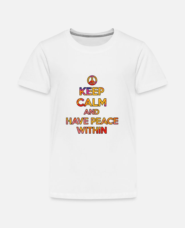 Easter T-Shirts - Peace Birthday T-Shirt Gift Idea - Teenage Premium T-Shirt white