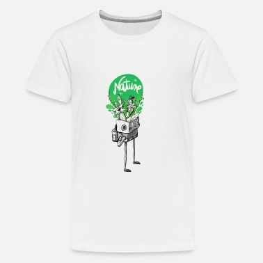 Nature Collection Nature in my mind - Teenage Premium T-Shirt