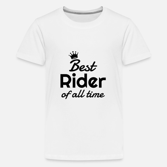 Cowboy T-Shirts - Riding Horse Rider Equestrianism Equitation - Teenage Premium T-Shirt white