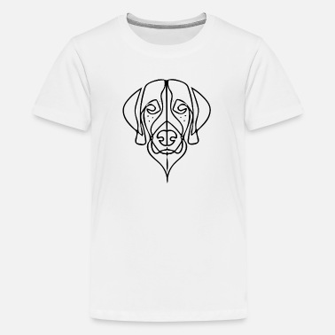 Stilvoller Doggy Kopf (schwarz) - Teenager Premium T-Shirt
