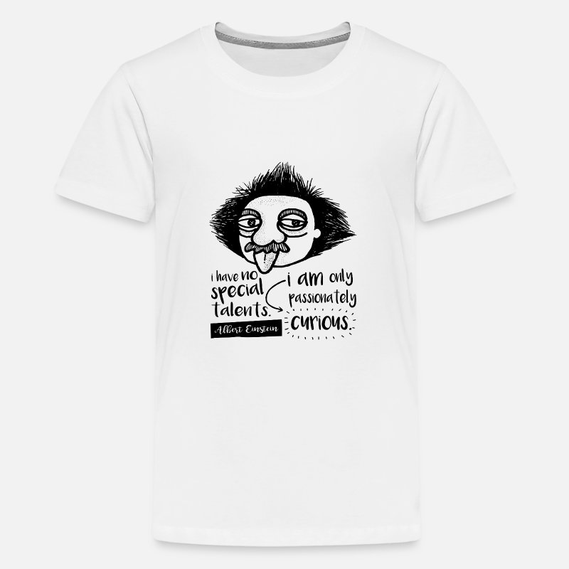 Alberte T-Shirts - Albert Einstein - Teenage Premium T-Shirt white