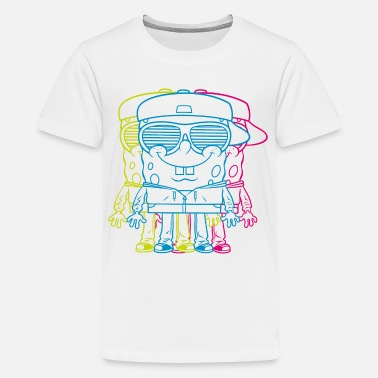 Spongebob Teenagers' Premium Shirt SpongeBob Triple - Maglietta premium per teenager
