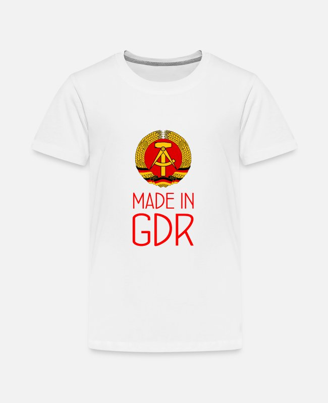 Social T-Shirts - Made in GDR - GDR - German Democratic Rep. - Teenage Premium T-Shirt white
