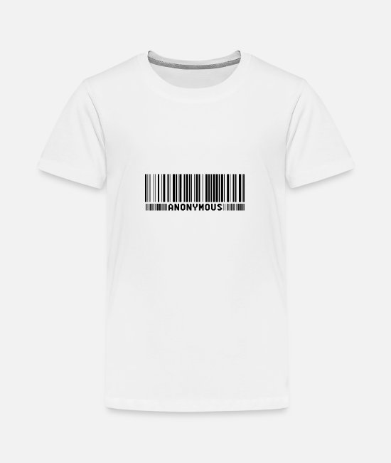 Obey T-Shirts - Anonymous Barcode - We Are Legion - Shirt - Teenage Premium T-Shirt white