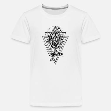 Mandala lotus flower symmetrical gift - Teenage Premium T-Shirt