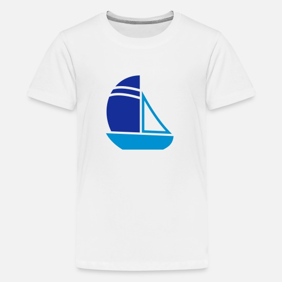Boat T-Shirts - Sailboat - Teenage Premium T-Shirt white