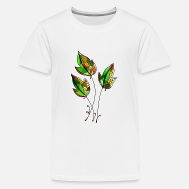 Colorful Leaves Colorful leaves - Teenage Premium T-Shirt