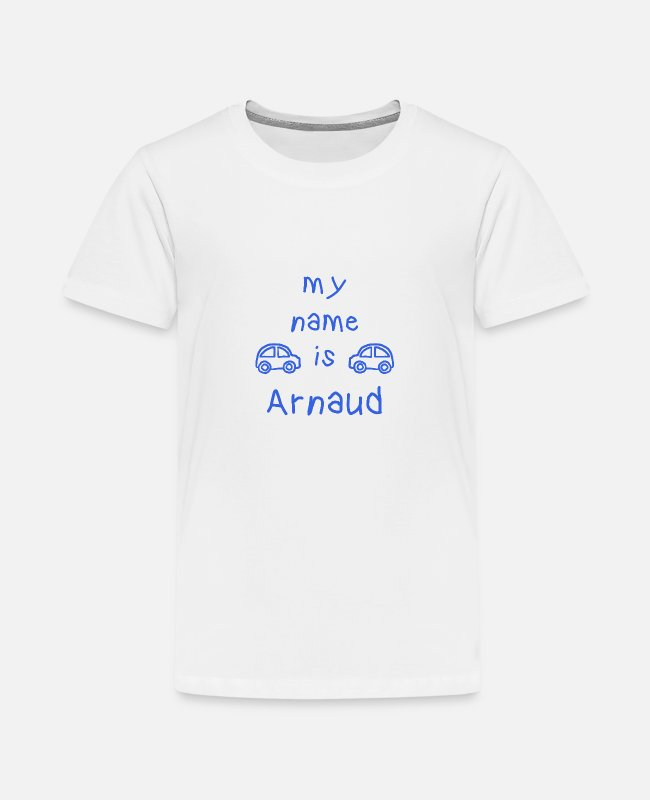 Arnaud Gift T-shirts - ARNAUD MIJN NAAM IS - Teenager premium T-shirt wit