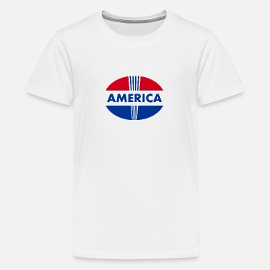 America logo - Teenage Premium T-Shirt