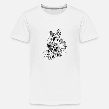 89ec45e3367b04 Kletternd Kletterndes Herz - Teenager Premium T-Shirt