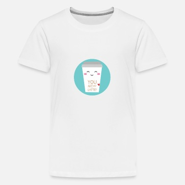 Latter Kaffe latte - Premium T-shirt teenager