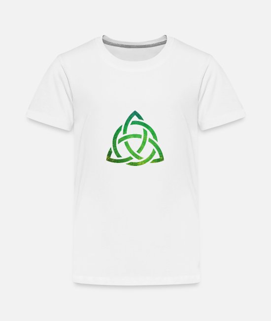 Groen T-shirts - Celtic Knot - Teenager premium T-shirt wit