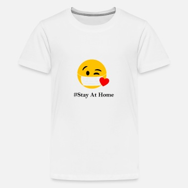 STAY AT HOME - Teenage Premium T-Shirt