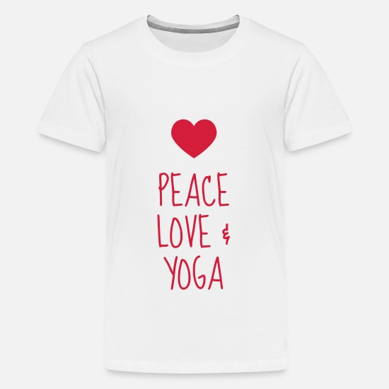 Yogi T-Shirts - Yoga / Yogi / Buddhismus / Buddhist - Teenager Premium T-Shirt Weiß