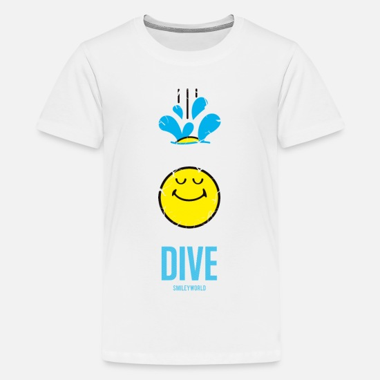 Smileys T-shirts - SmileyWorld DIVE Deep - Premium T-shirt tonåring vit