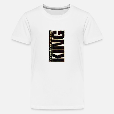 I'm a warrior and Jesus is my KING - Teenager Premium T-Shirt