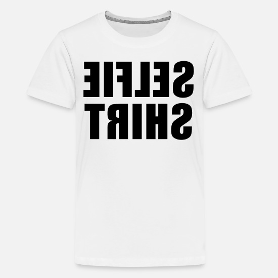 Mirror T-Shirts - T-shirt with funny phrases - Teenage Premium T-Shirt white