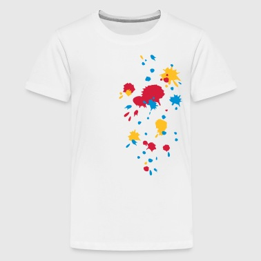 Color splash, paintball, game, splatter, graffiti - Teenage Premium T-Shirt