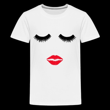 Beauty Queen, Beauty Salon,Sexy lips and eyelashes - Teenage Premium T-Shirt