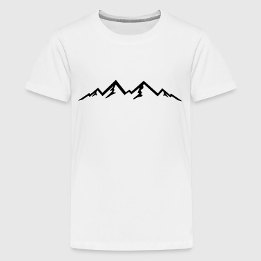 Mountain, Mountains (super cheap!) - Teenage Premium T-Shirt