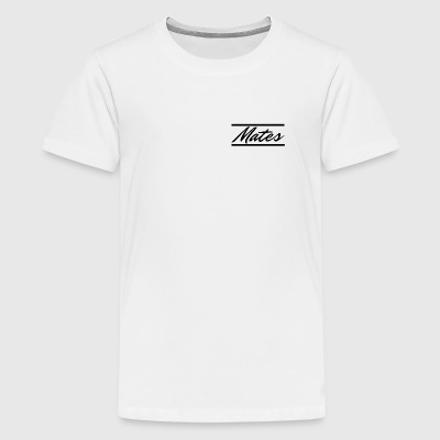 Mates lettering with bars - Teenage Premium T-Shirt