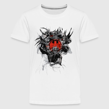 Batman Dark Logo Rot T-Shirt für Männer  - Teenager Premium T-Shirt