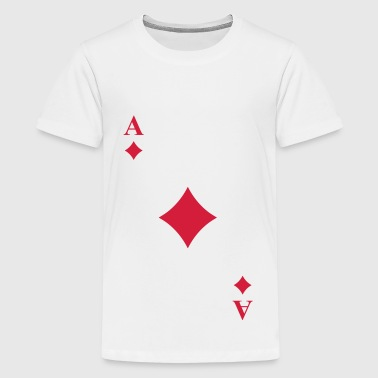 Ace of diamonds - Teenage Premium T-Shirt