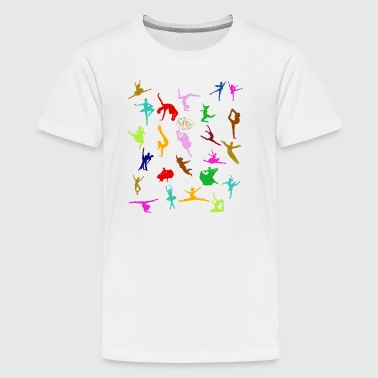 COLOURFUL SILHOUETTES - T-shirt Premium Ado
