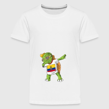 Ecuador Dabbing turtle - Teenage Premium T-Shirt