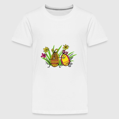 Easter eggs - Teenage Premium T-Shirt