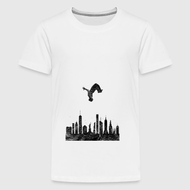 Parkour Gift Le Parcour Freerunning Backflip - Teenage Premium T-Shirt