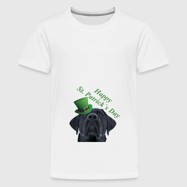 St. Patrick's Day Dog Saint Patrick - Teenage Premium T-Shirt