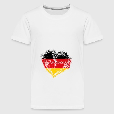 HOME ROOTS COUNTRY GIFT LOVE Germany - Teenager Premium T-Shirt