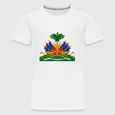 Nationalwappen von Haiti - Teenager Premium T-Shirt