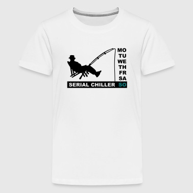 serial chiller (fishing, 2c) - Teenage Premium T-Shirt