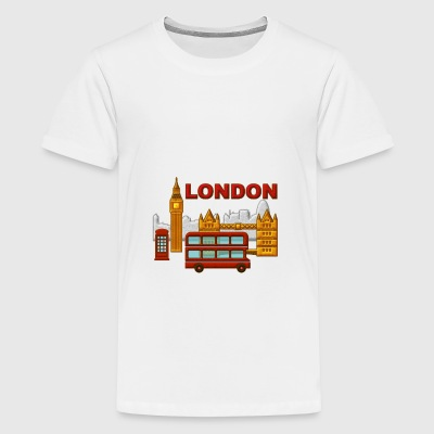 Londres, London, Inglaterra, recuerdo - Teenage Premium T-Shirt