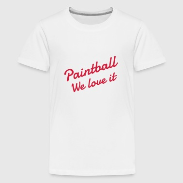 Paintball - Paintballer - Airsoft - Sport - Winner - Teenage Premium T-Shirt