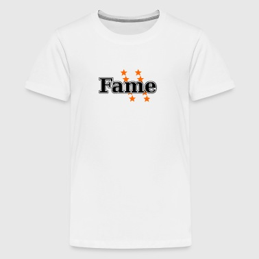 Fame with orange stars - you are a little star! - Teenage Premium T-Shirt
