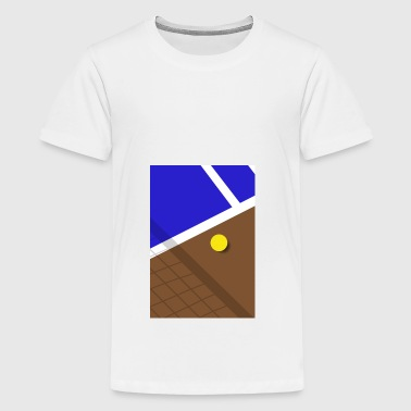 Minimalistisk Tennisbane Sports - Teenager premium T-shirt
