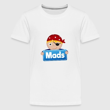 Lille Pirate Mads - Teenager premium T-shirt
