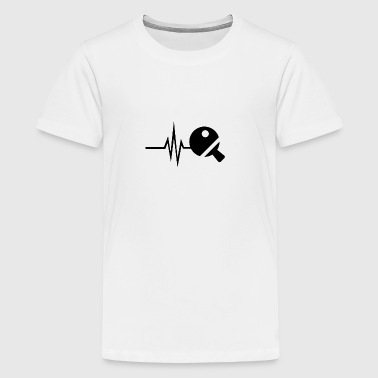 My heart beats for table tennis - tennis ball - Teenage Premium T-Shirt
