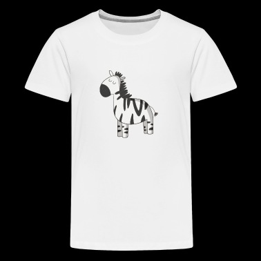 Zebra - Teenager Premium T-Shirt