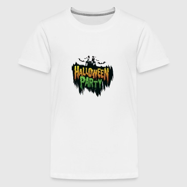 Helloween party - Chateau - bat - Teenager Premium T-shirt