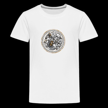 Dragon celtique sur cercle - T-shirt Premium Ado
