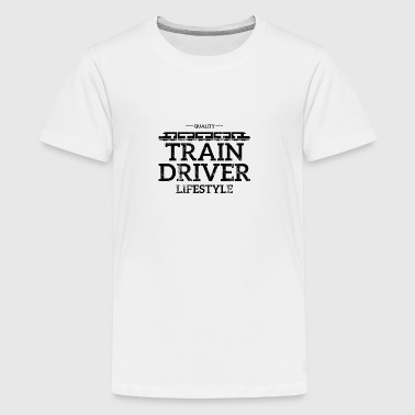 Train driver, train conductor, railway, subway, ICE, train - Teenage Premium T-Shirt