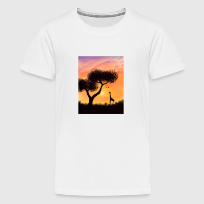 African Sunset - Teenage Premium T-Shirt